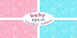 Newborn baby seamless pattern Royalty Free Stock Image