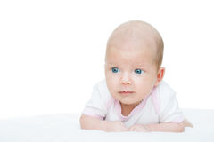 Newborn baby seven weeks age Stock Photo