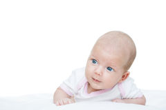 Newborn baby seven weeks age Royalty Free Stock Photo