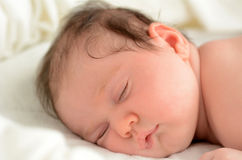 Newborn baby sleep Stock Image