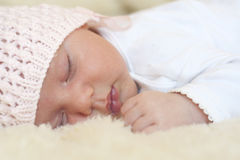 Newborn baby sleeping Royalty Free Stock Photo