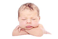 Newborn Baby Sleeping Stock Images