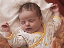 Newborn baby sleeping Stock Photo