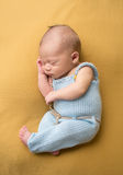 Newborn Baby Sleeping on Blanket Royalty Free Stock Photography
