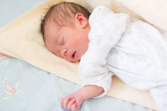 Newborn baby sleeping, 3 days old Royalty Free Stock Image