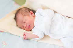 Newborn baby sleeping, 3 days old Royalty Free Stock Images