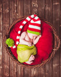 The newborn baby royalty free stock photography