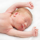 Newborn baby sleeping peacefully Royalty Free Stock Image