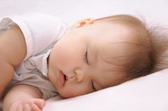 Newborn baby sleeping quite Royalty Free Stock Photos