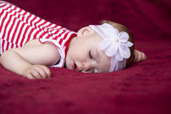 Newborn baby sleeping Royalty Free Stock Image