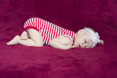 Newborn baby sleeping Stock Photos