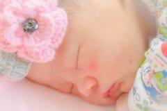 Newborn baby sleeping Stock Images