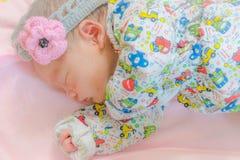 Newborn baby sleeping Stock Photography