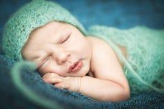 Newborn baby sleeping sweetly Royalty Free Stock Images