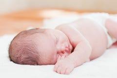 Newborn baby sleeps Stock Photo