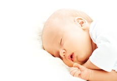 Newborn baby sleeps Stock Image