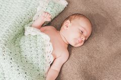 Newborn baby sleeps Stock Photo