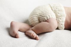 Newborn baby in studio Royalty Free Stock Photo