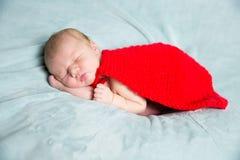 Newborn baby superhero Stock Images