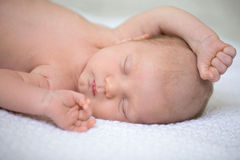 Newborn baby sweet dreams stock images