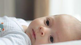 Newborn baby stock video