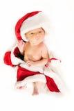 Newborn baby wearing as Santa Claus. Royalty Free Stock Image