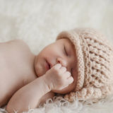 Newborn babygirl Royalty Free Stock Images