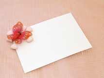 Newborn or baptism card Stock Photo