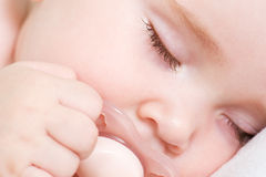 Newborn beautiful baby sleeping Stock Photography
