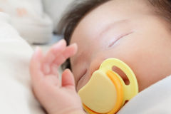 Newborn beautiful baby sleeping Royalty Free Stock Image