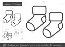 Newborn booty line icon. Stock Image