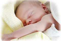 Newborn boy stock photo