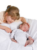 Newborn brother Royalty Free Stock Photos