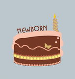 Newborn cake royalty free stock images