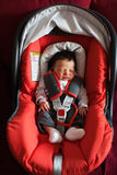Newborn in car safety seat Royalty Free Stock Photography