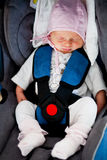 Newborn in car seat Stock Image