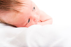 The newborn child close up Royalty Free Stock Photo