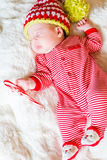 Newborn Christmas baby Royalty Free Stock Photos