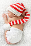 Newborn Christmas baby stock image