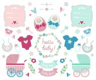 Newborn collection Royalty Free Stock Photo