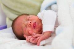 Newborn Crying Stock Photography