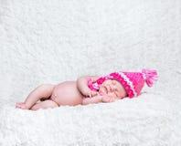 Newborn cute baby Stock Photo