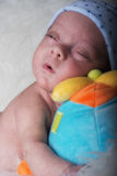 Newborn details selective focus male baby Stock Images