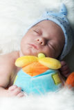 Newborn details selective focus male baby Royalty Free Stock Photography
