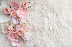 Free Newborn Digital Background With Pink Flowers And Fir Backdrop Stock Photos - 202293153