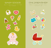 Newborn Doodle Elements Set. Smiled Baby Vector Illustration. Ha Royalty Free Stock Photo