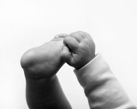 Newborn feet Royalty Free Stock Photography