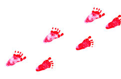 Newborn feetprint Royalty Free Stock Images