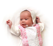 Newborn female baby Royalty Free Stock Photography