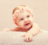 Newborn fine portrait Stock Photo